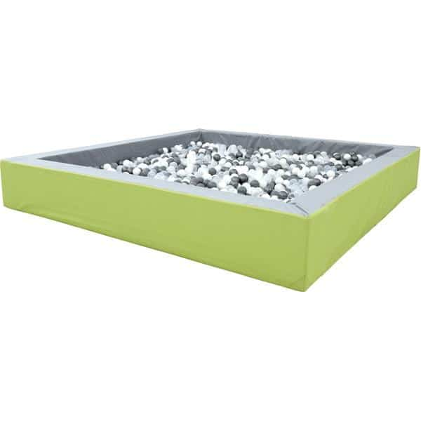 Bällebad quadratisch 3m - grau-hellgrün - Höhe: 45 cm 1