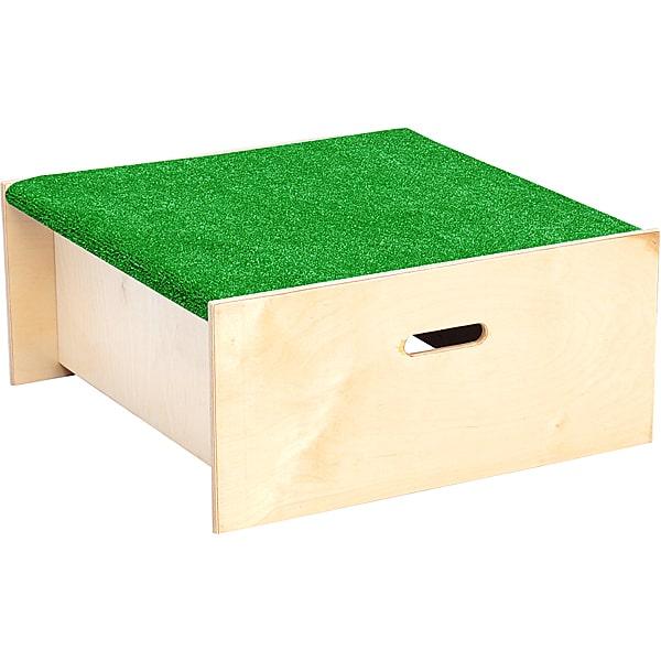 Kindergarten-Quadratpodest mit Kunstrasenbelag - Höhe 20 cm 1