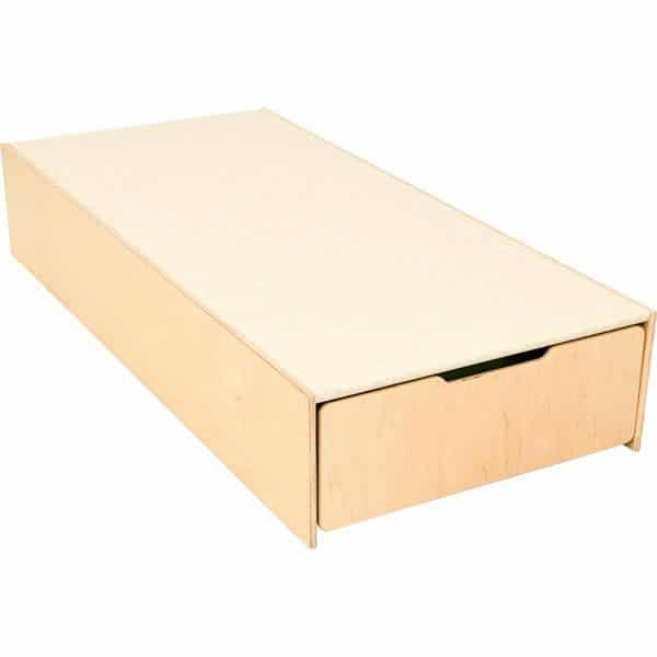 Kindergarten-Podest mit Auszugsbett - Linoleum beige 4