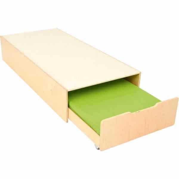 Kindergarten-Podest mit Auszugsbett - Linoleum beige 3