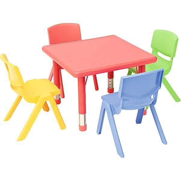 Kindergarten-Tisch Felix (quadratisch) 6
