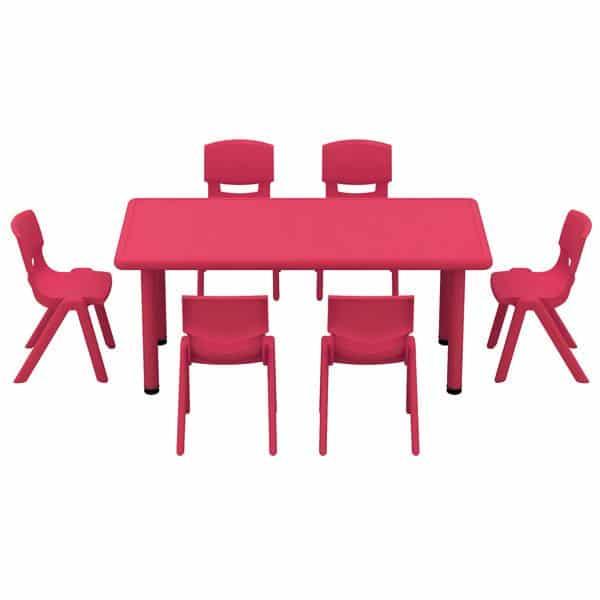 Kindergarten-Tisch Felix (rechteckig) 4
