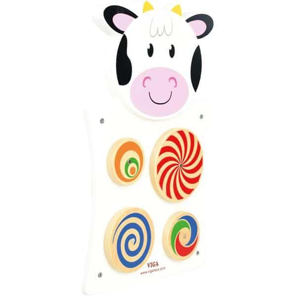 Wandapplikation - Kuh mit Drehrädern 2