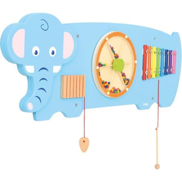 Wandapplikation - Elefant mit 3 Spielen 2