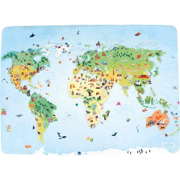 Bodenspielmatte - Weltkarte 1