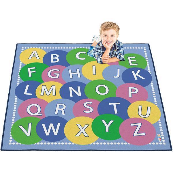 Bodenspielmatte - Alphabet blau 1