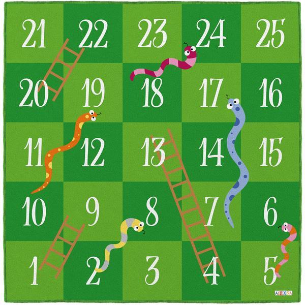 Bodenspielmatte - Leiterspiel mit Schlangen 1