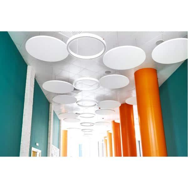 Akustik-Deckenpaneele - Ecophon Solo Circle - 120 cm - 4 Stück mit Seilabhängern - in 6 Farben 8