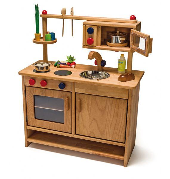 Spielküche aus Holz - Pantryküche 1