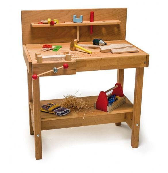 Werkbank aus Holz 1