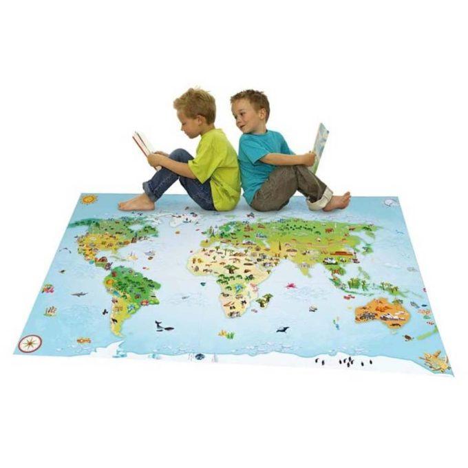 Spielteppich - Kontinente 1