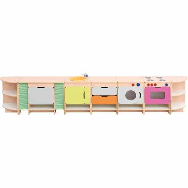 Kindergarten-Spielecke Küche Quadro - Ahorn - Set 1