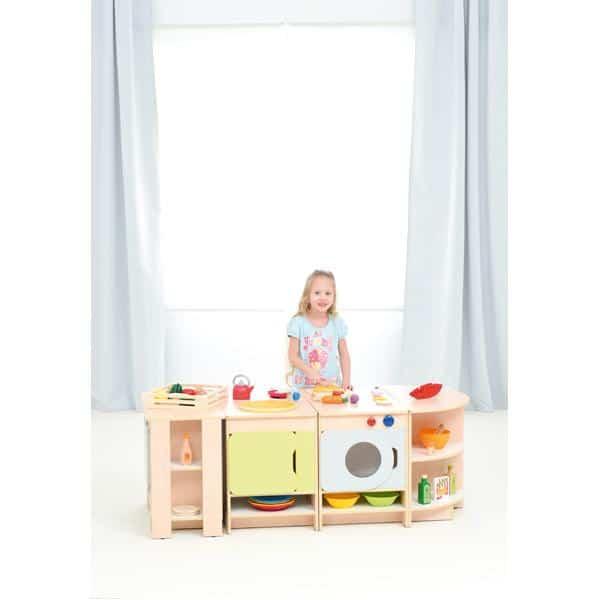 Kindergarten-Spielecke Küche Quadro - Ahorn - Set 2