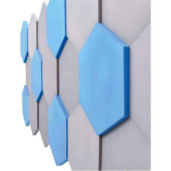 Akustik-Wandpaneele-Set - Sechsecke - blau/marengo 3