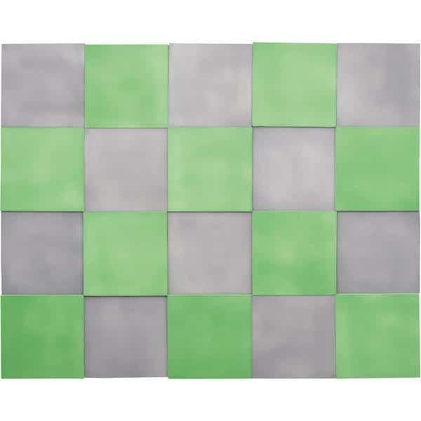 Akustik-Wandpaneele-Set - Quadrate - moosgrün/marengo 1