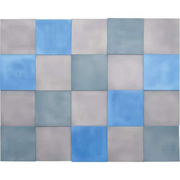 Akustik-Wandpaneele-Set - Quadrate - blau/marengo/taubenblau 1