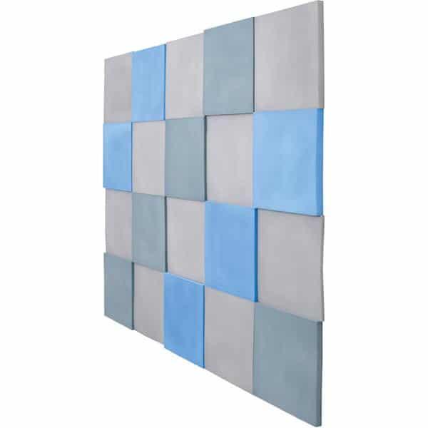 Akustik-Wandpaneele-Set - Quadrate - blau/marengo/taubenblau 2