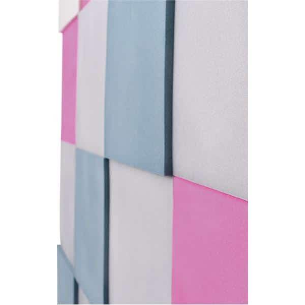Akustik-Wandpaneele-Set - Quadrate - taubenblau/platin/marengo/pink 3