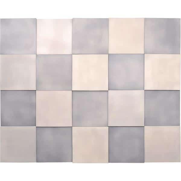Akustik-Wandpaneele-Set - Quadrate - platin/marengo 1