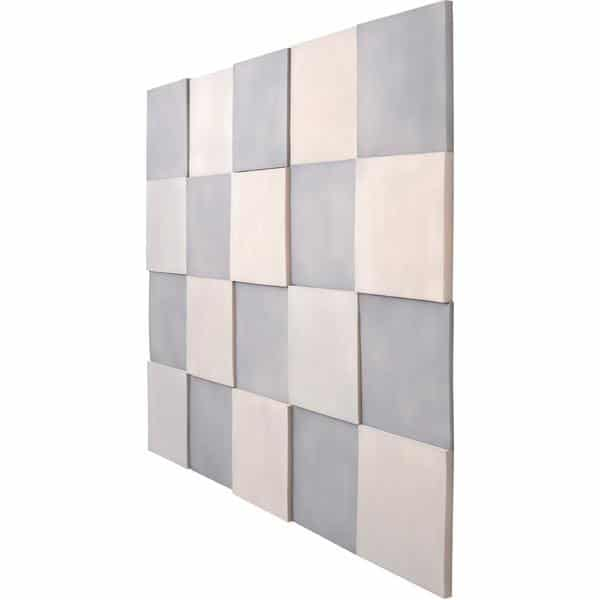 Akustik-Wandpaneele-Set - Quadrate - platin/marengo 2
