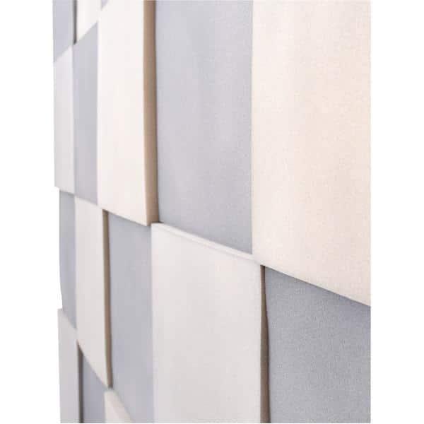Akustik-Wandpaneele-Set - Quadrate - platin/marengo 3