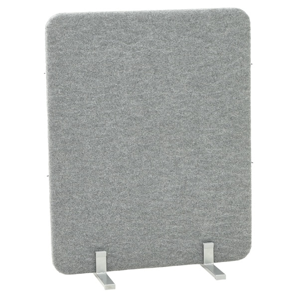 Akustik-Trennwand - Höhe: 100 cm - grau 1