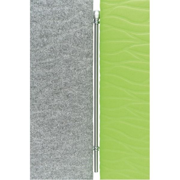 Akustik-Trennwand - Höhe: 100 cm - grau 4