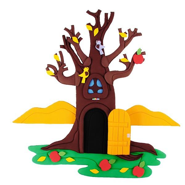 Wandbehang - Apfelbaum - im Wandel der 4 Jahreszeiten 2
