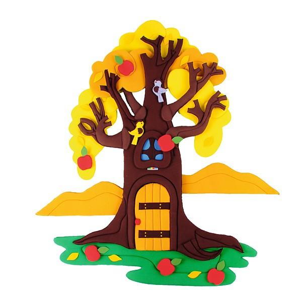 Wandbehang - Apfelbaum - im Wandel der 4 Jahreszeiten 3