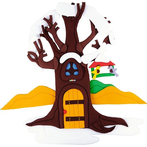 Wandbehang - Apfelbaum - im Wandel der 4 Jahreszeiten 4