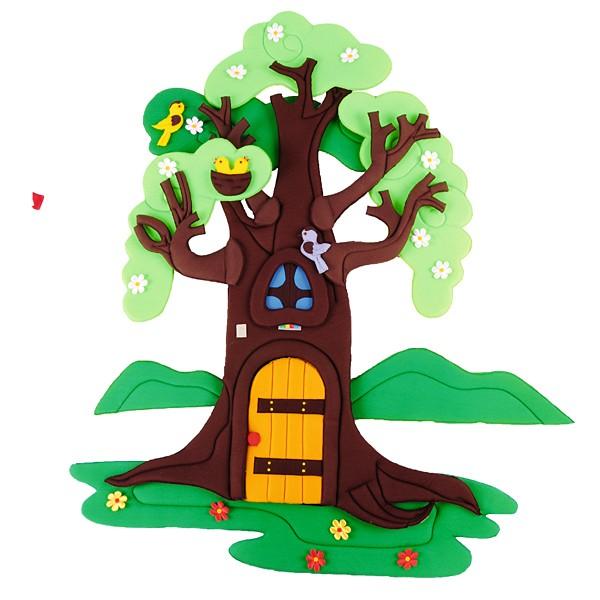 Wandbehang - Apfelbaum - im Wandel der 4 Jahreszeiten 5