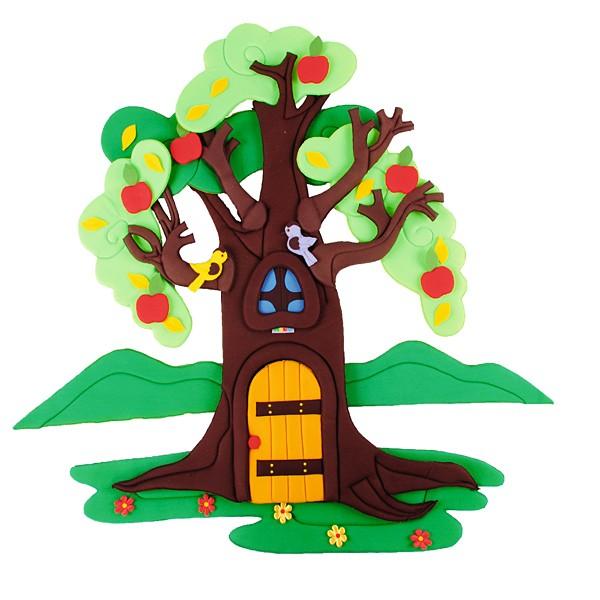 Wandbehang - Apfelbaum - im Wandel der 4 Jahreszeiten 1