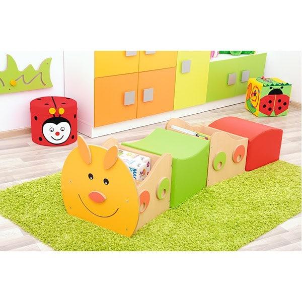 Kindergarten-Bücherregal Raupe - Kopfteil 2