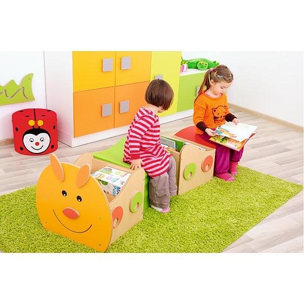 Kindergarten-Bücherregal Raupe - Kopfteil 3