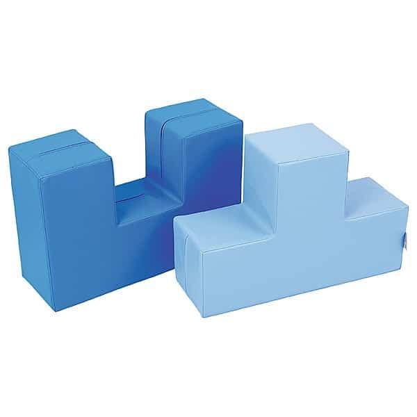 Schaumstoff-Bausteine Duo blau 1