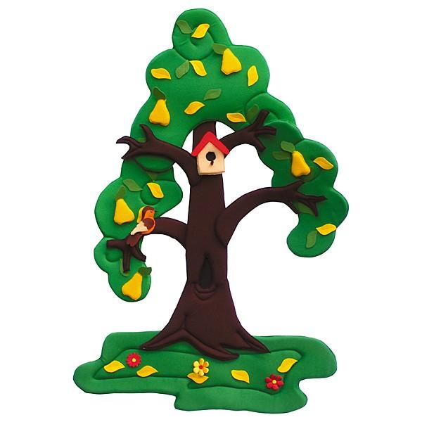 Wandbehang - Birnenbaum - im Wandel der 4 Jahreszeiten 2