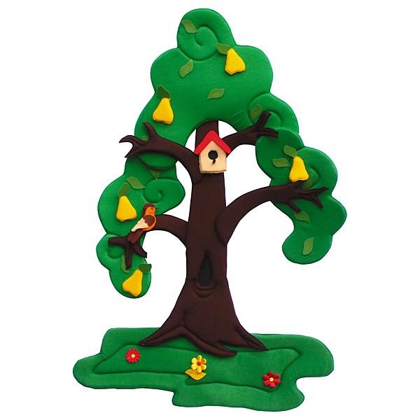 Wandbehang - Birnenbaum - im Wandel der 4 Jahreszeiten 3