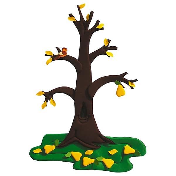 Wandbehang - Birnenbaum - im Wandel der 4 Jahreszeiten 4