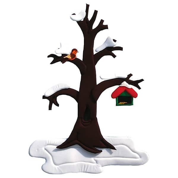 Wandbehang - Birnenbaum - im Wandel der 4 Jahreszeiten 5
