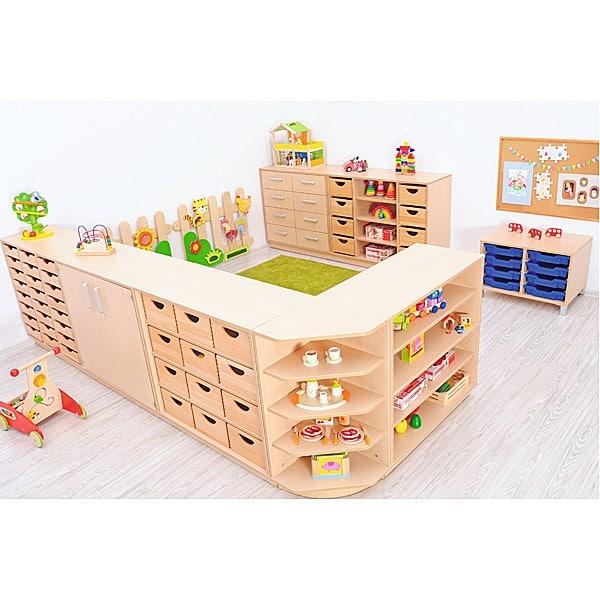 Kindergarten-Eckregal M - Rückwand 41,5 cm 3