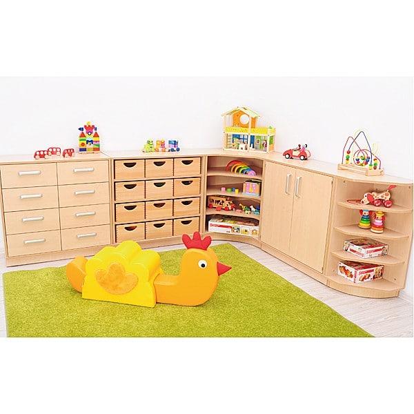 Kindergarten-Eckregal M - Rückwand 41,5 cm 4