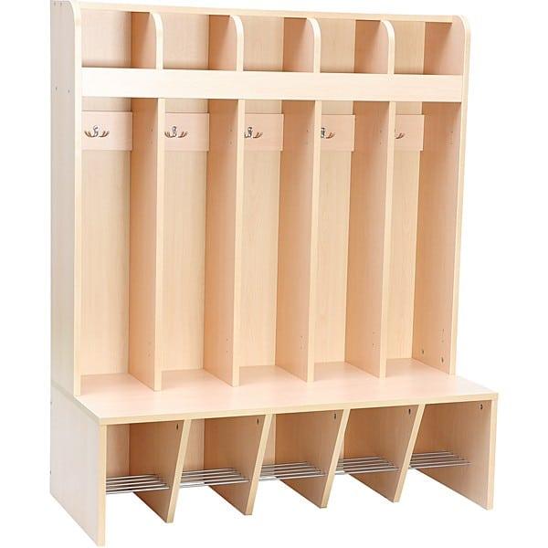 Garderobe Schmetterling - 5 Fächer - Sitzhöhe: 32,5 cm 1