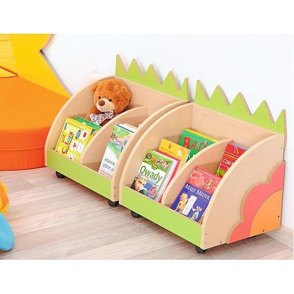 Lustiger Bücher-Rollcontainer mit Applikationen 3