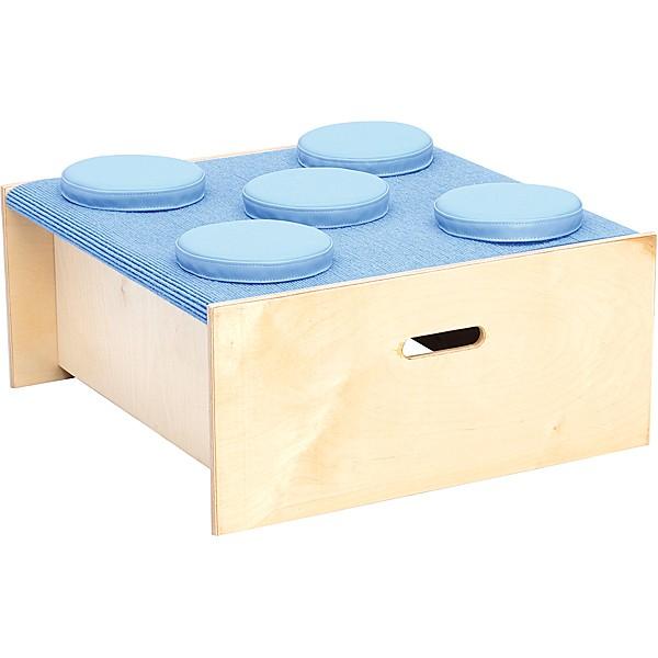Kindergarten-Quadratpodest mit Schaumstoffkissen - Höhe 30 cm - hellblau 1