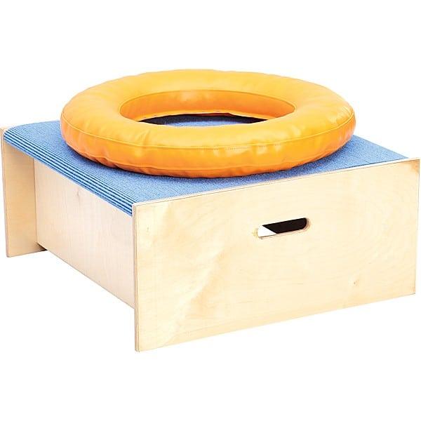 Kindergarten-Quadratpodest mit Schaumstoffring - Höhe 30 cm - hellblau 1