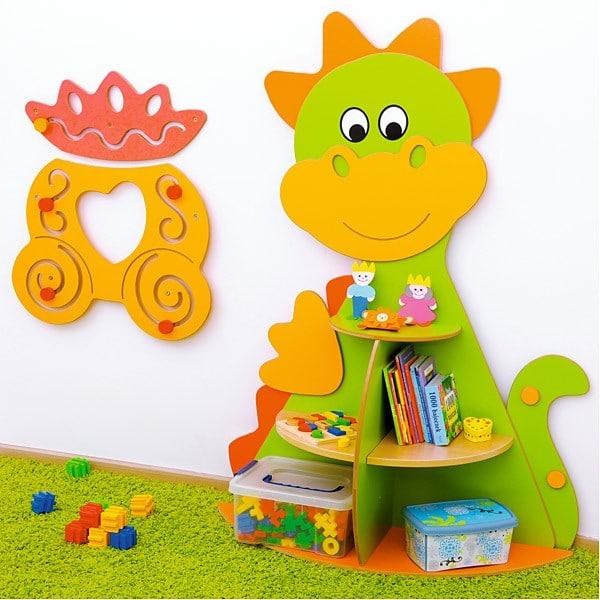 Kindergarten-Spielecken Regal - Drache 4