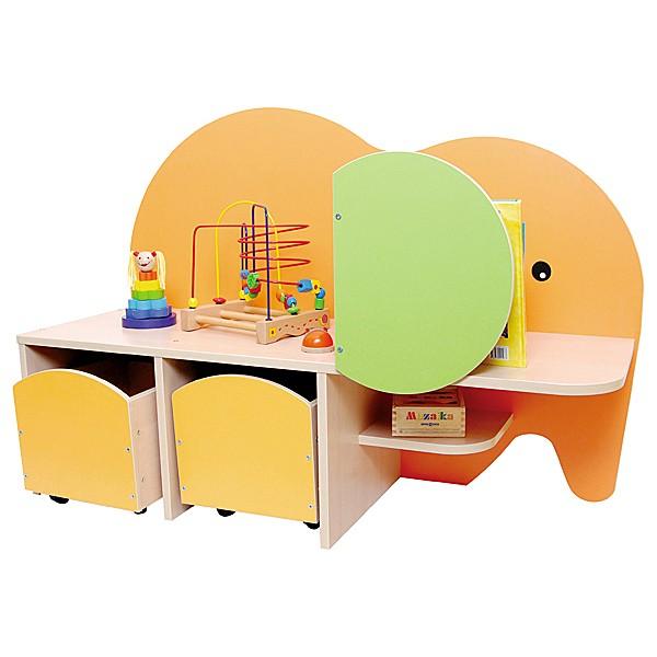 Kindergarten-Spielecken Regal - Elefant 1