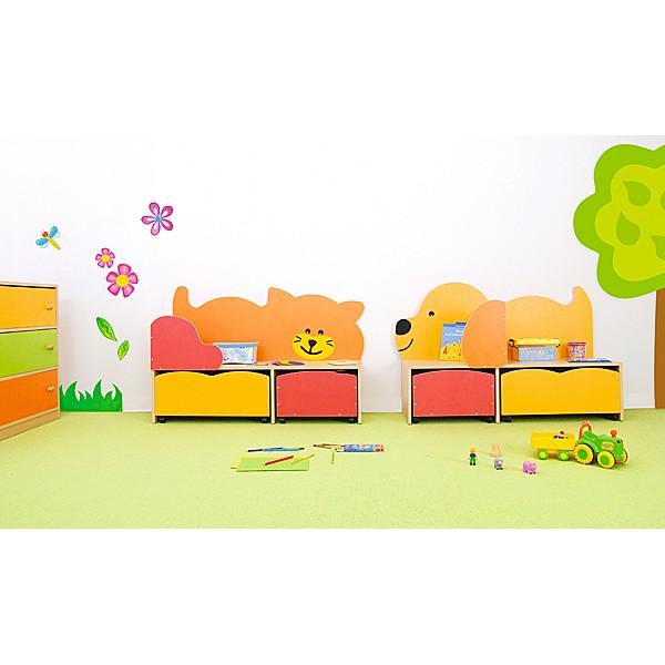 Kindergarten-Spielecken Regal - Katze 2