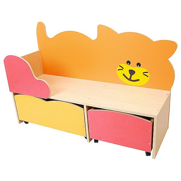 Kindergarten-Spielecken Regal - Katze 1