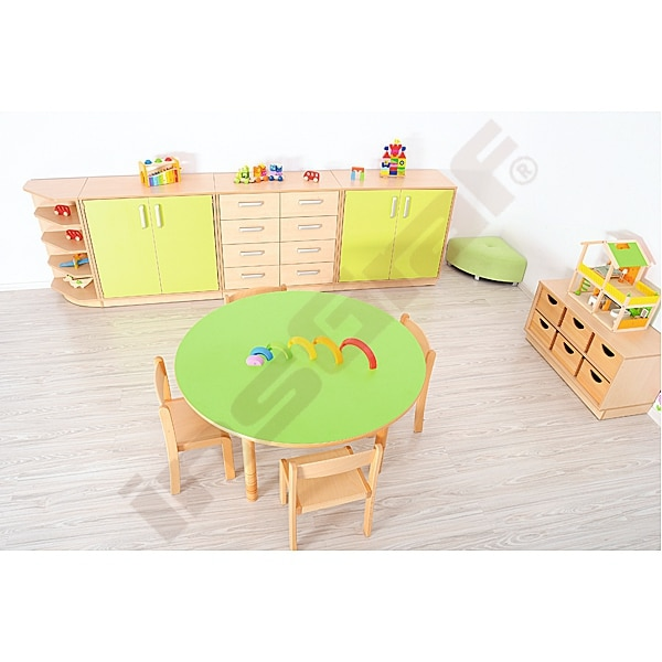 Kindergarten-Tisch Flexi (rund) - höhenverstellbar 40-58 cm 3